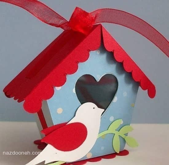 весенняя поделка домик с птичками
