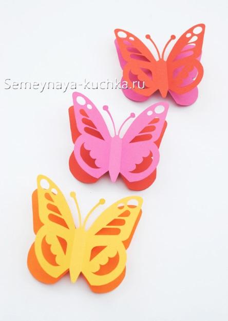 весенняя поделка ажурные бабочки из бумаги