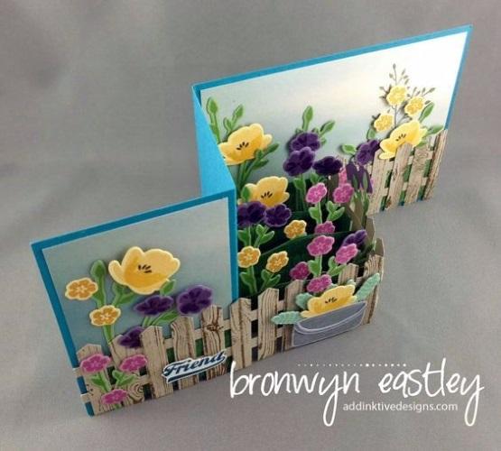 весенняя поделка открытка с цветами