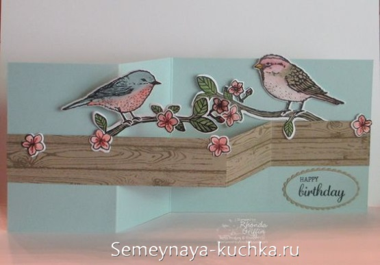 поделка весенняя с птичками