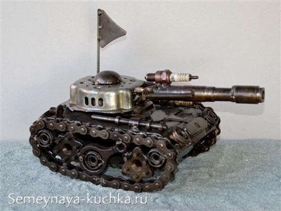 поделка металлическая танк своими руками
