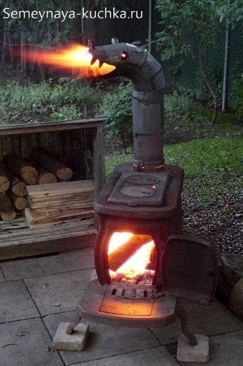 подлка из металла печка на дачу