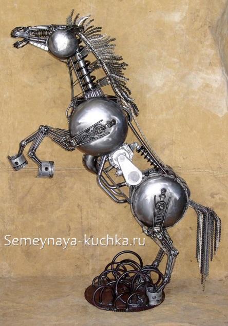 поделка из металла лошадь сварная