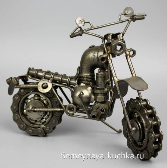 поделка из металла мотоцикл своими руками