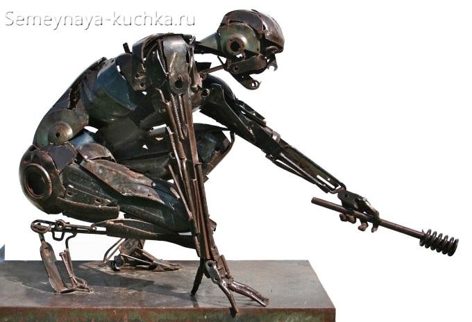 поделка из металла сварная человек