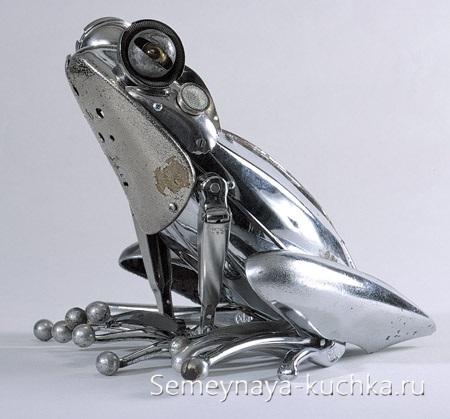 поделка интересная из металла лягушка своими руками