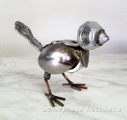 простая поделка из металла для детей сварная птичка