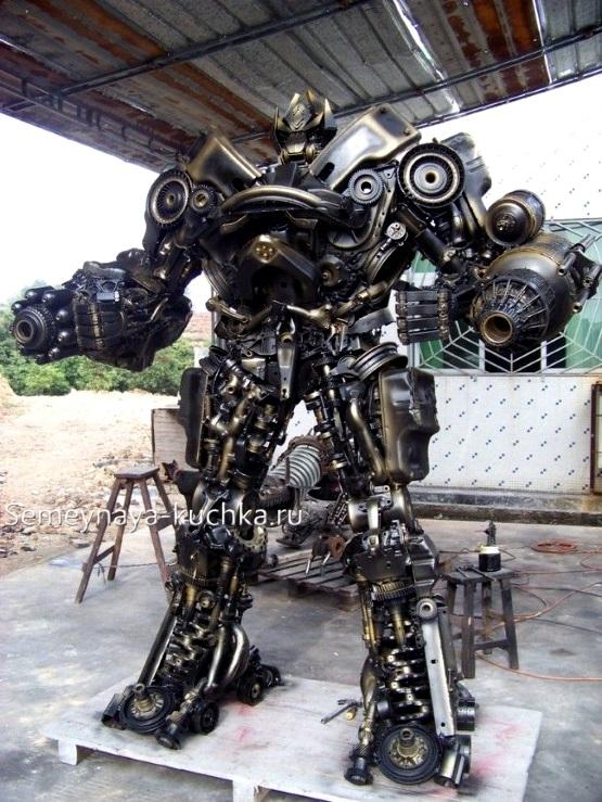 поделка робот из металла с помощью сварки