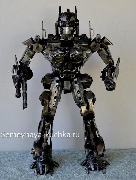 поделка робот трансформер из металла для дачи своими руками сварка