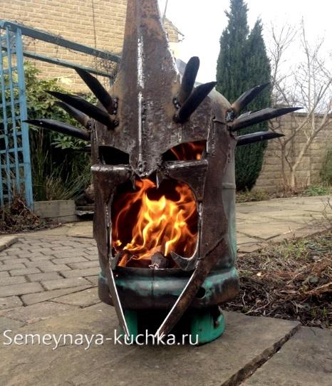сварка поделка печка из металла своими руками