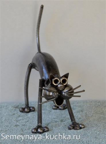 поделка из металла кот с помощью сварки