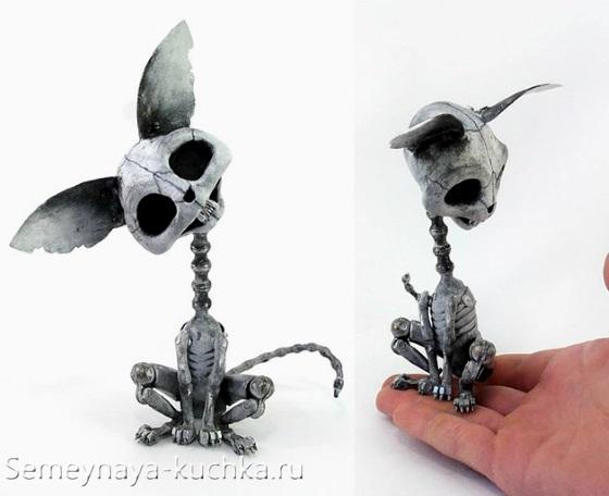 поделка из металла кот с помощью сварки маленький размер