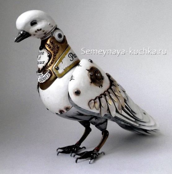 поделка голубь из металла красивая