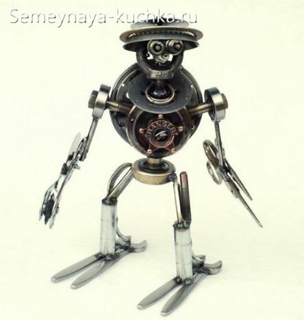 поделка из металла робот