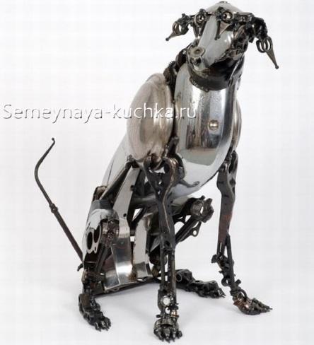 поделка из металла собака нержавейка с помощью сварки своими руками