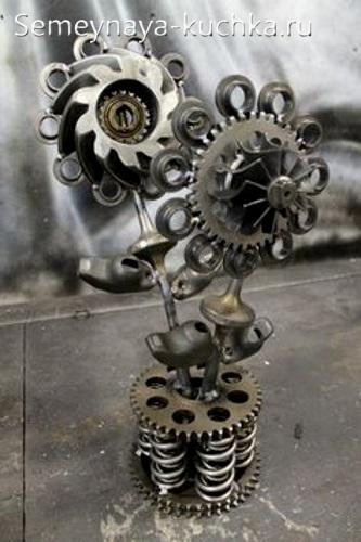 поделка из металла цветы сварная своими руками