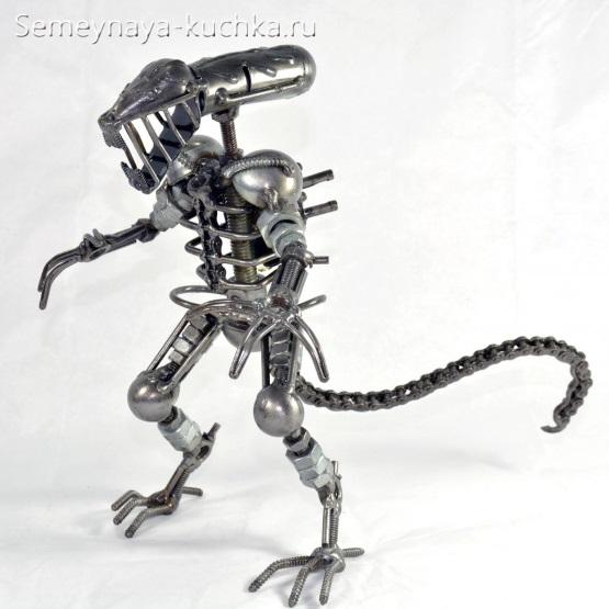 поделка из металла динозавр своими руками