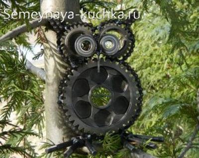 поделка сова из металла и цепи своими руками