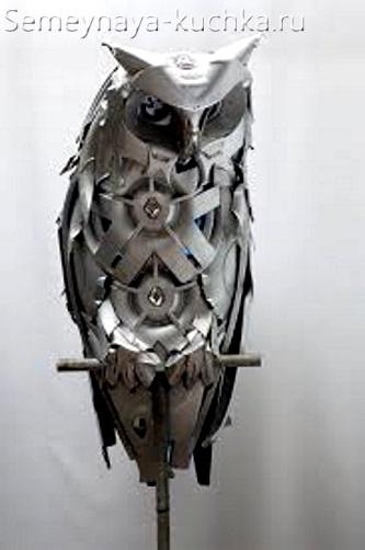 поделка из металла сова своими руками