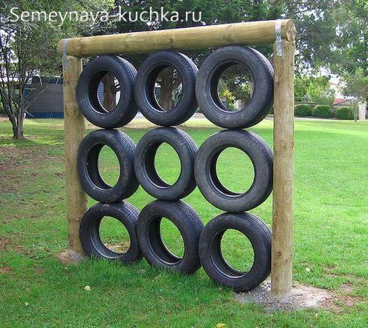 детская площадка спорткомплекс из покрышек