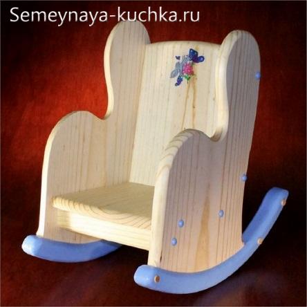 качалка деревянная для детей на площадку
