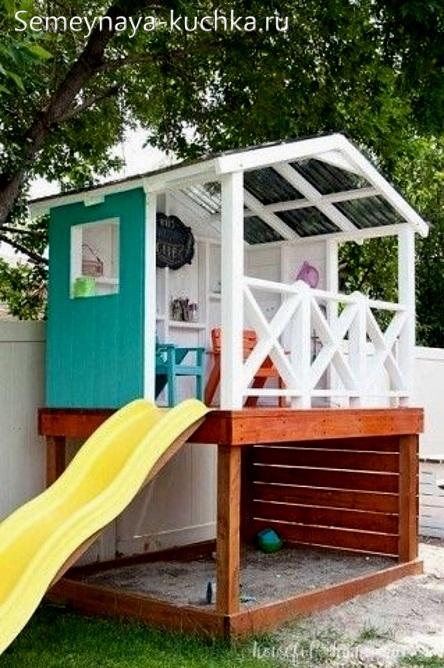 домик из дерева своими руками на детскую площадку