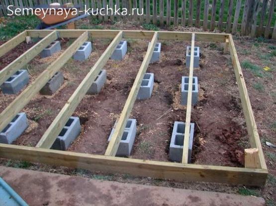 как построить помост настил на детской площадке