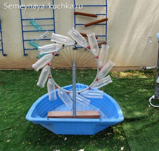 водяная мельница для детской площадки поделка своими руками