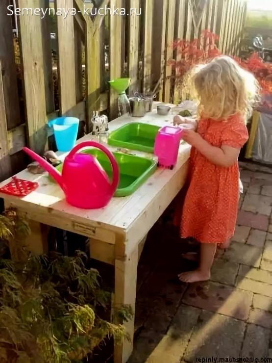 поделки для детской площадки своими руками кухня игрушечная