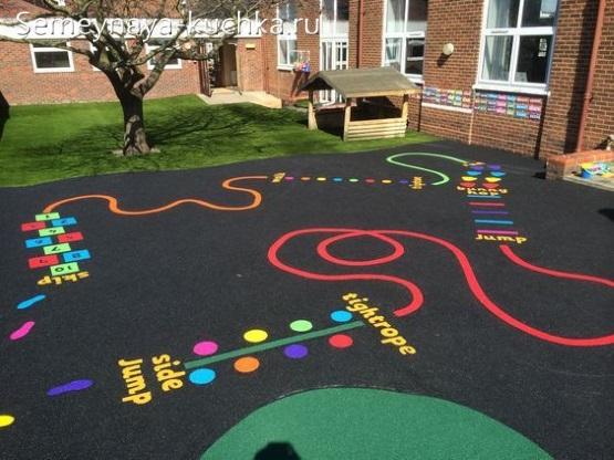 резиновое покрытие для детской площадки идеи своими руками