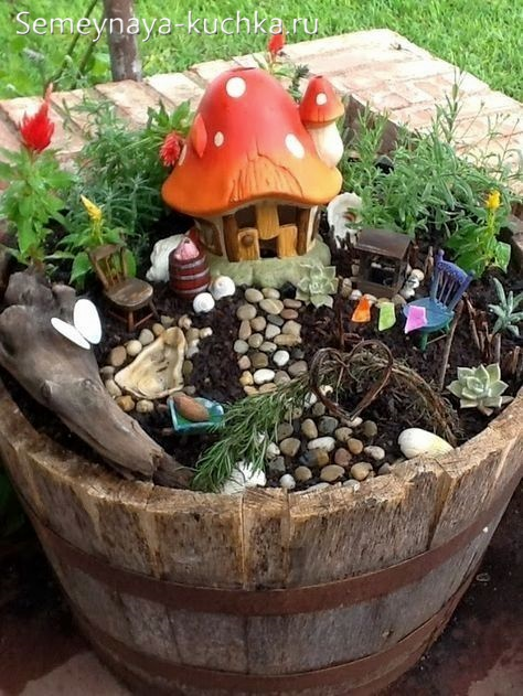 украшение для детской площадки мини клумба с игрушками