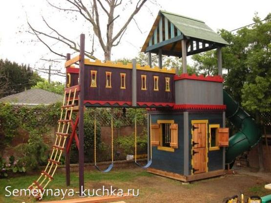 домик с лазалками и лесенками на детской площадке сделать самим