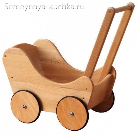 идеи и поделки для детской площадки из дерева коляска