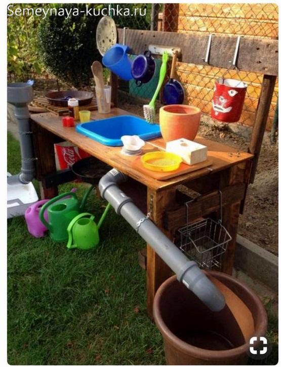 идея для детской площадки маленькая кухня с раковиной