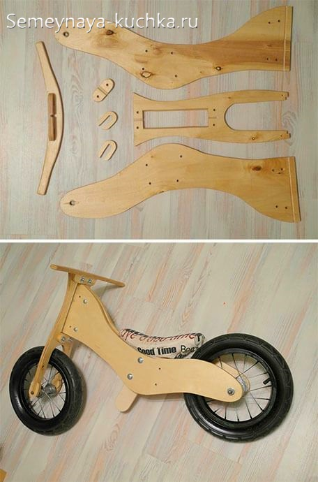 мотоцикл из дерева и колес от коляски своими руками
