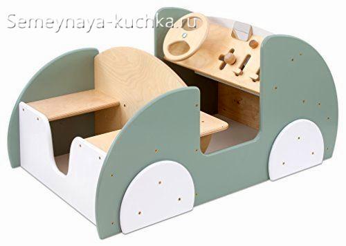 машинка скамейка игровая для детской площадки с рулем