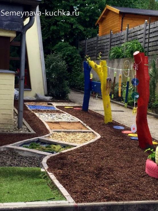 дорожка здоровья для детской площадки своими руками