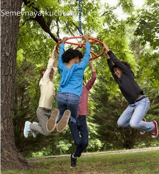 колесо на дереве идеи для детской площадки