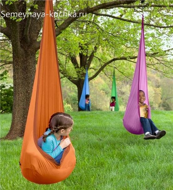 подвесной сидячий гамак для детской площадки