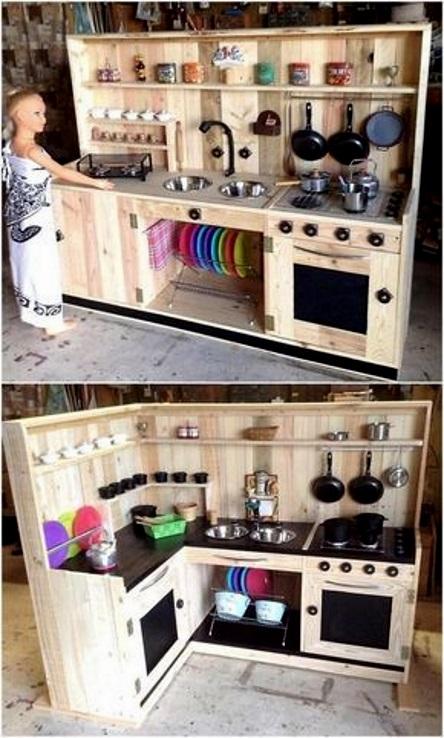 игрушечная кухня идеи для детской площадки на даче