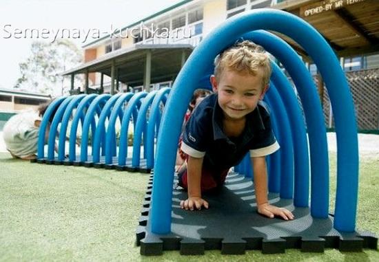 тоннель лазалка для детской площадки