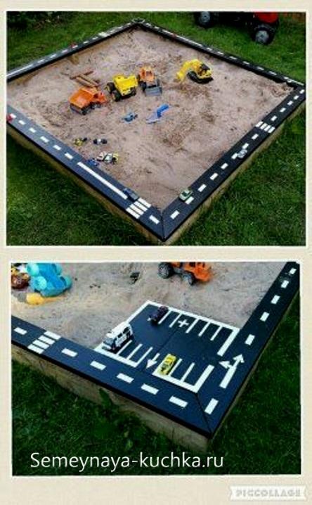 песочница на детской площадке своими руками