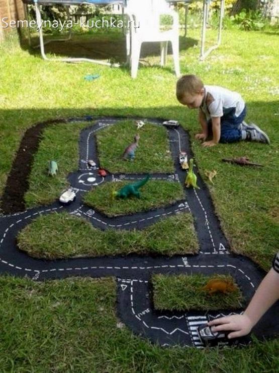 дорожки для машинок детские во дворе для игры