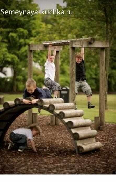 мостик своими руками на детскую площадку