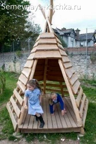 идеи домика палатки для игровой площадки детям