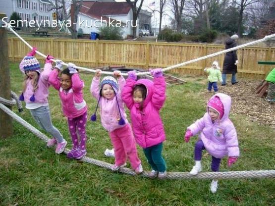 канат для игровой площадки детям сделать