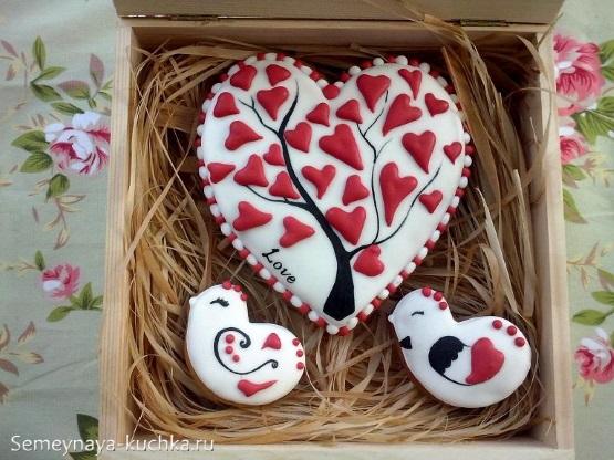 картинка люблю с сердечками на кексе