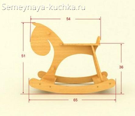 схема чертеж лошадка из дерева