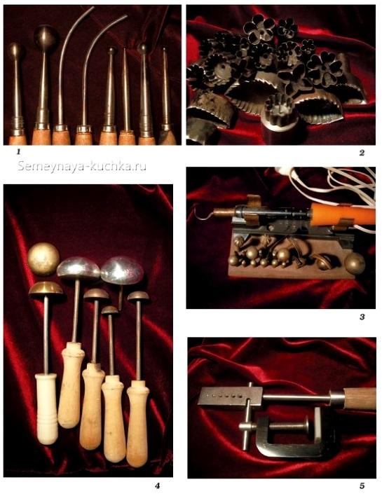 инструменты для оттисков на коже галантерея