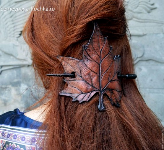 заколки для волос из кожи своими руками